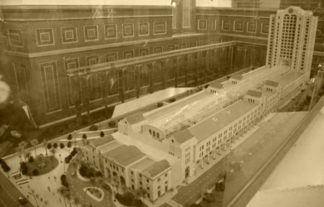 Model of the new station